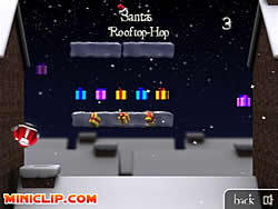 Santa's Rooftop-Hop game
