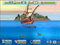 Defend Fish Boat game