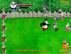 Panda vs Zombies game