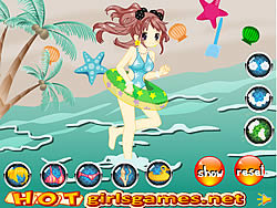 Adorable Swimming Girl game