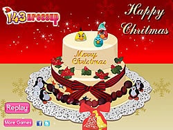 Yummy Christmas Cake Decor game