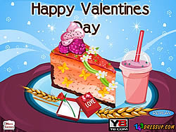 Играть бесплатно в игру Valentines Cheesecake Decor