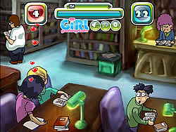 Kiss in a Library game