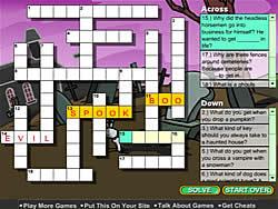 Gioca gratuitamente a Creepy Crossword