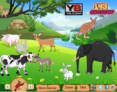 Jungle Animals Decor لعبة