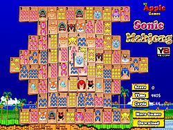 Sonic Mahjong game