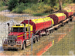 Road Train Truck Puzzle game