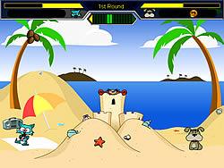 Cat vs Dog at the beach oyunu