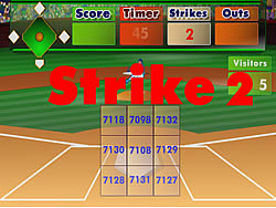 Batter's Up Base Ball Math - Multiplication Ed game