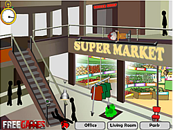 Stickman Death Shopping Mall game
