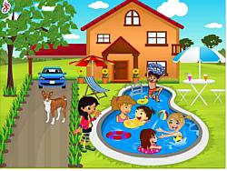 Kids Swimming Pool Decor لعبة