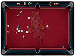 Permainan Billiard straight