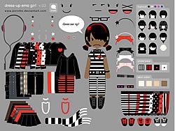 Gioca gratuitamente a Little Emo Girl Dress Up