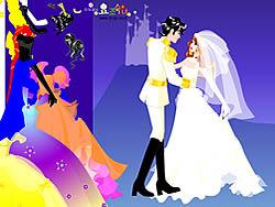 Gioca gratuitamente a Colorful Wedding Dressup