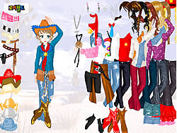 Cowgirl Dress Up game