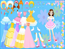 Flower Gown Dressup game