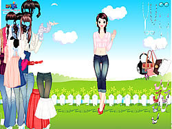 Shirts and Jeans Dress up game