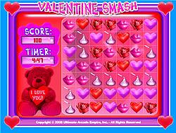 Jogar jogo grátis Valentine Smash