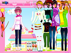 Happy Pink Dressup game