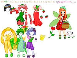 Fruit Doll Dressup لعبة