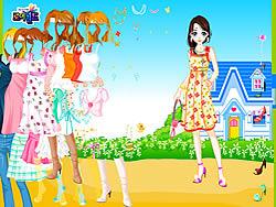Blue House Spring Dressup oyunu