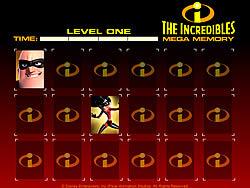 The Incredibles Mega Memory لعبة