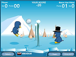 Penguin Volleyball game