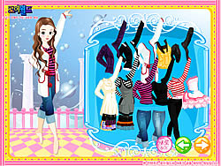 Dancing Girl Dressup game