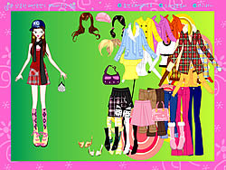 Colorful Fashion Dressup game
