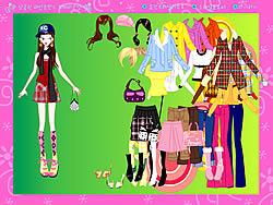मुफ्त खेल खेलें Colorful Fashion Dressup