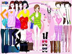 Gioca gratuitamente a Selma Pink Dress Up