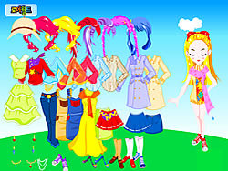 Gioca gratuitamente a Colorful Doll Dressup