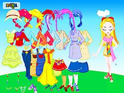 Gioca gratuitamente a Colorful Doll Dressup