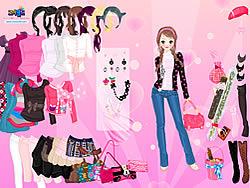 Gioca gratuitamente a Pink Glitter Dress Up
