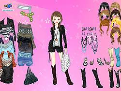 Pink Star Dress Up παιχνίδι