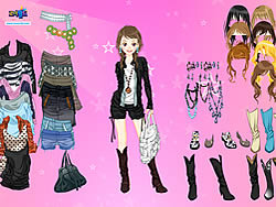 Pink Star Dress Up game