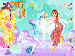 Gioca gratuitamente a Fairy and the Unicorn Dressup