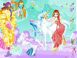 Gioca gratuitamente a Fairy and the Unicorn Dressup