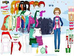 Gioca gratuitamente a Winter Walking Dress Up