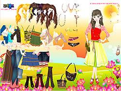 Gioca gratuitamente a Flower Field Dress Up