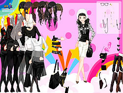 Black and White Dress Up game