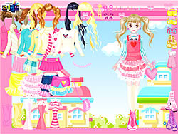 Pink Hearts Dress Up game