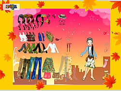 Autumn Post Card Dress Up oyunu