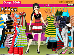 Rachel Stripes Dressup game